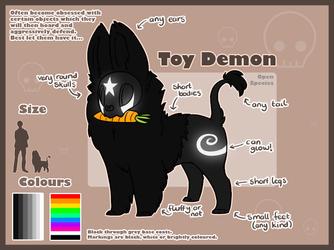 Toy Demon Species Ref OPEN SPECIES by AbwettarAdopt