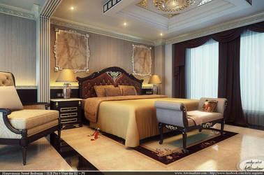 Honeymoon Sweet Bedroom by teknikarsitek
