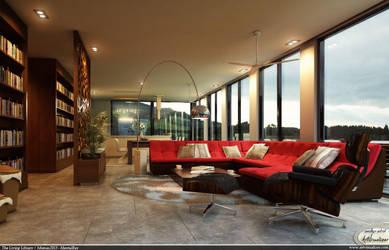 Living Library Interior by teknikarsitek