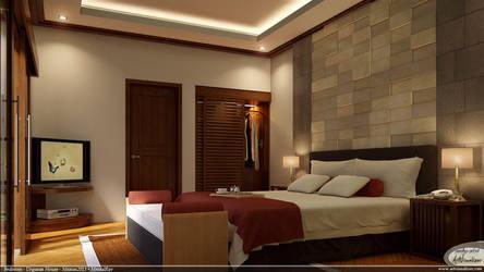 Bedroom for Ungasan House by teknikarsitek