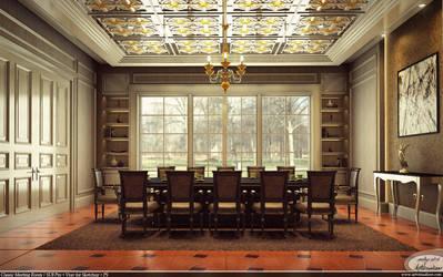 Classic Meeting Room - Vray for Sketchup by teknikarsitek