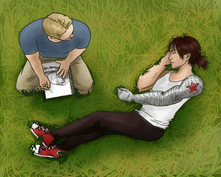 Drawing in the Park by zuzuKH