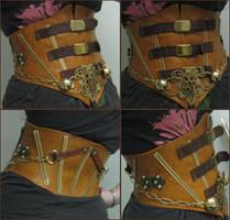 steampunk waist cincher by FiddlerofDooney