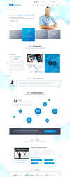 One Page Media Type PSD Template by themerboy