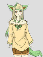 Miria - Leafeon Gijinka by ProfesserR