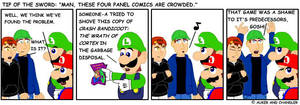 Four Panel Comics Get Crowded by tipofthesword
