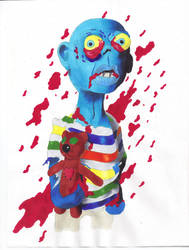 Lucas the Zombie Bear Lover by Lucky-Cat-Tattoo