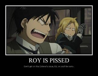 Roy is pissed by Haladflire65