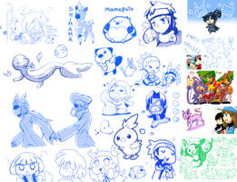 Poke-doodles. LOTS OF THEM by Aonik