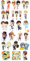 A bunch of chibis by Aonik