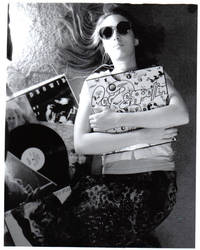 Emily with Records by deathforcecilia