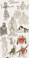 Sketchbook Dump by kitsuneleah