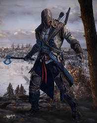Assassin's Creed 3 Connor Digital Painting by Hax09
