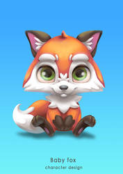 Baby Fox Character Design by Yanosik
