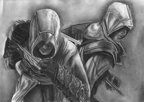 Assassin's Creed- Altair, Ezio by Orionca