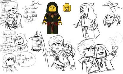 The One Departed - Ninjago OC (Sketch dump) by RRproAni