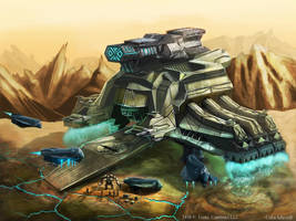 Battle cruiser card art by Colin-Ashcroft