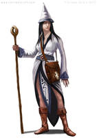 RPG character design female wizard by Colin-Ashcroft
