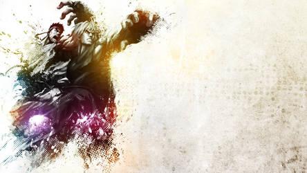 Ryu and Ken Wallpaper by alekSparx
