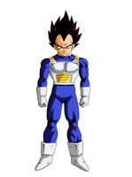 Colored 009 - Vegeta 003 by VICDBZ