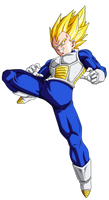 Colored 046 - Vegeta 011 by VICDBZ