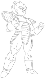 Lineart 054 - Vegeta 015 by VICDBZ