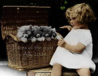 Girl with kittens by VelkokneznaMaria