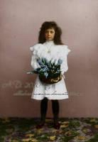 Little Ella with flowers by VelkokneznaMaria