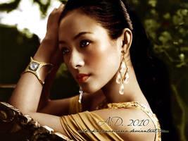 Golden Zhang Ziyi by VelkokneznaMaria