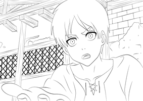 Eren Jaeger - Lineart by TobeyD