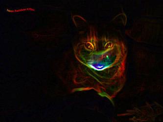 Neon Rainbow Kitten by HartsEase