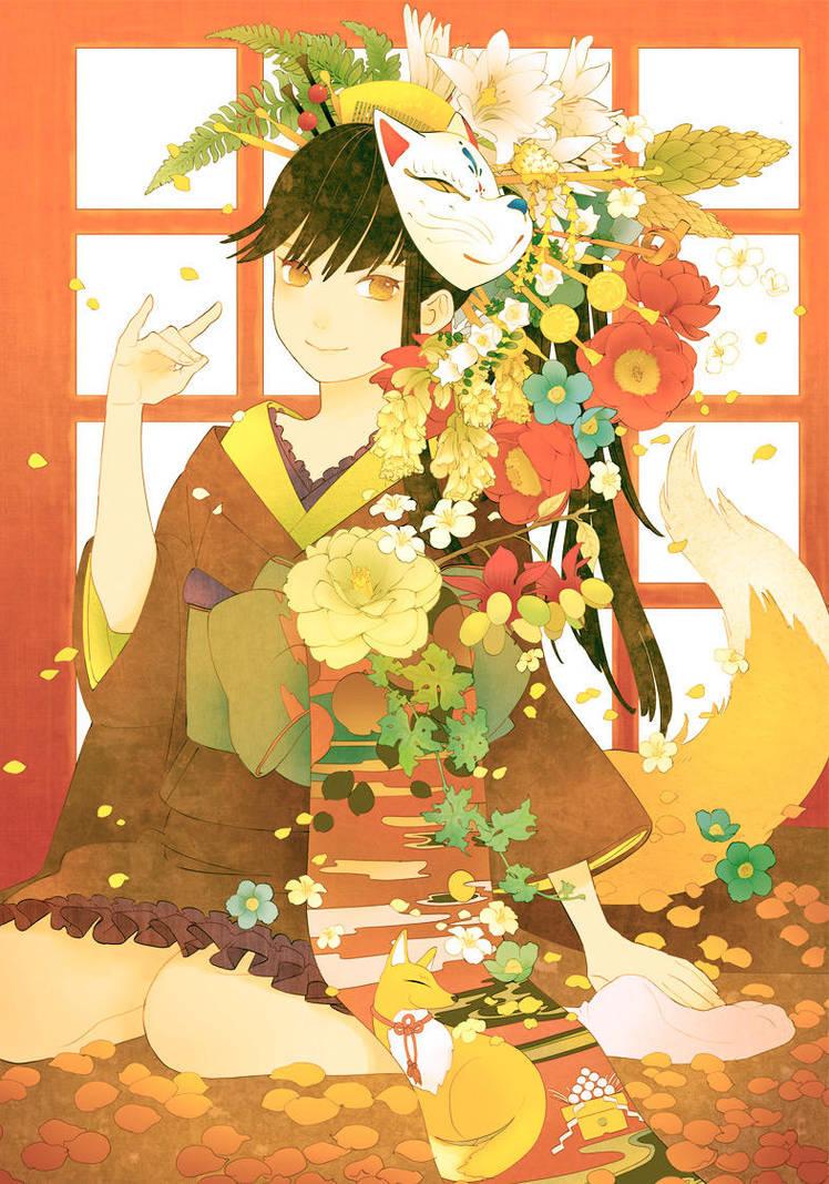 Kimono Girl by conronca