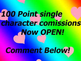 100 Point Single Character Commissions CLOSED! by SkunkyNoid