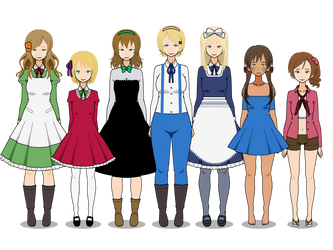 Hetalia girls (pt.1) by AsamiTheKoala