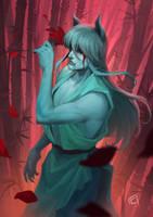 Demon Fox by CharloArt