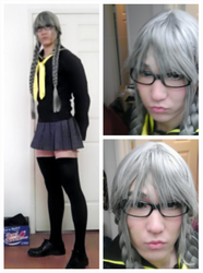 Persona 4 Yuu Narukami cross dress contest WIP by SoCoPhDPepper