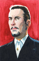 Christopher Lee (The Devil Rides Out) by doctor-morbius
