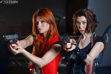 Alice and Claire [Resident Evil: Afterlife] 03 by helenkyle