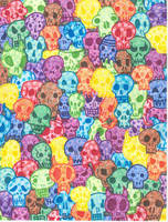 Skull Pop Art by GooeyNooey