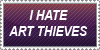 I hate Art Theives Stamp by Mephonix