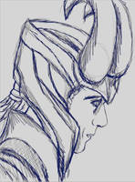 New Loki Pic Sketch by Mephonix