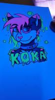 Black Light Art - Koka Head Shot -Commissions Open by Mephonix