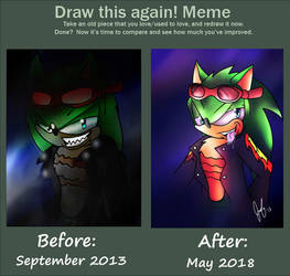Before and After: Scourge- Steaming Glare by Mephonix