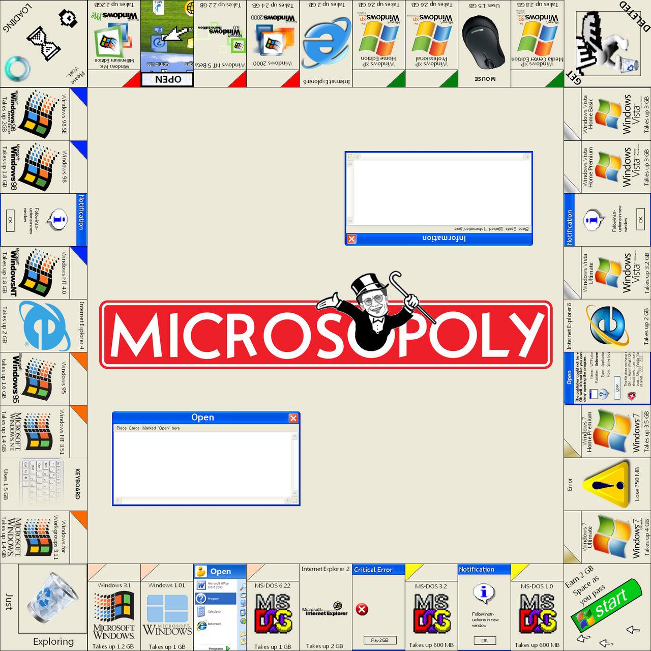 Microsoft Monopoly by jubjub449