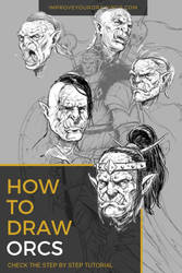 How To Draw ORCS. Step by Step Tutorial by ARTOFJUSTAMAN