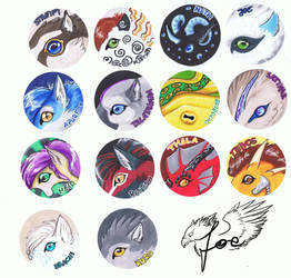 marker blobs 1/2 by wolfgryph