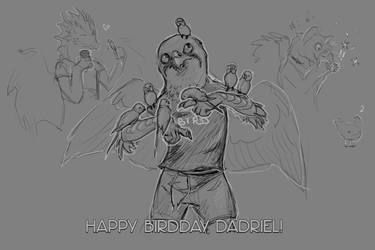 Happy birdday, Dadriel! by wolfgryph
