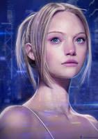 Sci-fi Girl Portrait by DesignSpartan