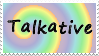 Talkative Stamp by Lady-Valentine-Art83