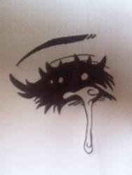 Drawing: Anime Eye by fibertastic